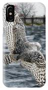 Snowy Owl Wingspan IPhone Case
