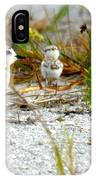 Snowy Plover And Chick IPhone Case