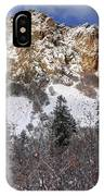 Snowy Ridge Above Bell Canyon - Wasatch Mountains - Utah IPhone Case