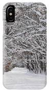 Snowy Road - 3 IPhone Case