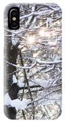 Snowy Sunbursts IPhone Case