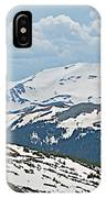 Snowy Terrain Near Top Of Trail Ridge Road In Rocky Mountain Np-co   IPhone Case