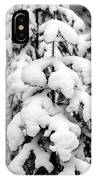 Snowy Tree - Black And White IPhone Case