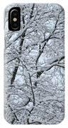 Snowy Tree Limb Maze IPhone Case