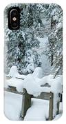 Snowy Wagner's Bridge IPhone Case