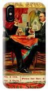 Social Smoke Vintage Cigar Advertisement IPhone Case
