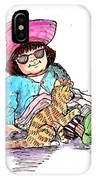 Sofie And Mittens IPhone Case