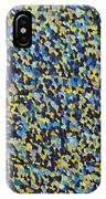 Soft Blue With Yellow IPhone Case