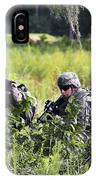 Soldiers Maintain Security At Fort IPhone Case