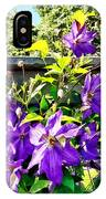Solina Clematis On Fence IPhone Case