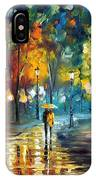 Soul Of The Rain - Palette Knife Oil Painting On Canvas By Leonid Afremov IPhone Case