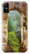 South Carolina Historic Church Photo Sheldon Ruins-- Another View From The Inside IPhone Case