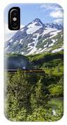 Southbound Alaska Railroad  IPhone Case