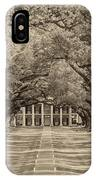 Southern Time Travel Sepia IPhone Case