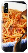 Spaghetti And Meat Sauce With Spoon IPhone Case