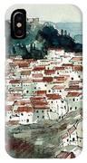 Spanish Hillside Village IPhone Case