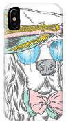 Spaniel In The Captains Cap. Vector IPhone Case
