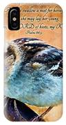 Sparrow With Verse And Painted Effect IPhone Case