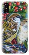 Sparrows On The Hawthorn IPhone Case
