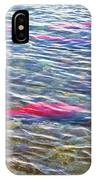Spawning Salmon In Moraine River In Katmai National Preserve-ak IPhone Case