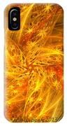 Spherical Golden Stars IPhone Case