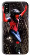 Spider Gal Leaping IPhone Case