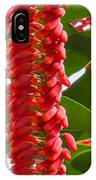 Spike Of Red Flowers IPhone Case