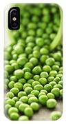 Spilled Bowl Of Green Peas IPhone Case