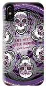 Spinning Celtic Skulls In Purple IPhone X Case