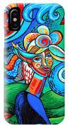 Spiral Bird Lady IPhone Case