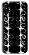 Spirals And Swirls Black And White Pattern  IPhone Case