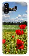 Spitfires And Poppy Field IPhone Case