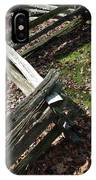 Split Rail Fence IPhone Case