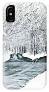 Split Snowy Road IPhone Case