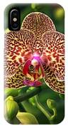 Spotted Orchid IPhone Case