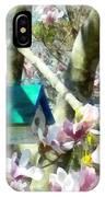 Spring - Birdhouse In Magnolia IPhone Case