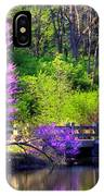 Spring Blossoms On Lake Marmo IPhone Case
