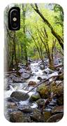 Spring Cascade Of Water From Bridal Veil Falls In Yosemite Np-2013 IPhone Case