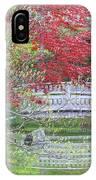 Spring Color Over Japanese Garden Bridge IPhone Case
