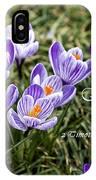 Spring Crocus With Scripture IPhone Case