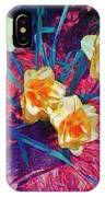 Spring Daffodils On Red - Horizontal IPhone Case
