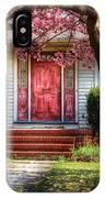 Spring - Door - Westfield Nj - Pink IPhone Case