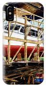 Yacht Glacier Bear Hauled Out In Gig Harbor IPhone Case