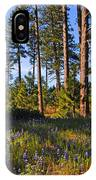 Spring Lupines In The Forest IPhone Case