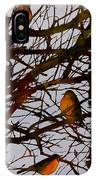 Spring Robins Gather IPhone Case