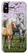Spring's Gift - Mare And Foal IPhone X Case