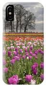 Springtime At Tulip Farm IPhone Case