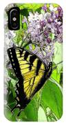 Springtime Moments- The Butterfly And The Lilac  IPhone Case