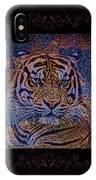 Sq Tiger Sat 6k X 6k Cranberry Wd2 IPhone Case