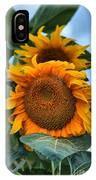 Squamish Sunflower Portrait IPhone Case